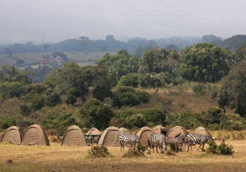 Luksus teltsafari i Afrika med toilet på savannen